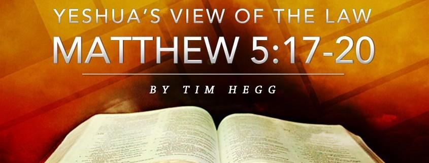 Matthew 5:17-20 Tim Hegg